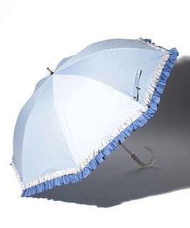 LANVIN en Blue(ランバン オン ブルー)晴雨兼用日傘 グログランフリル