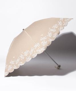 LANVIN en Blue(ランバン オン ブルー)晴雨兼用折りたたみ日傘 シャンブレー