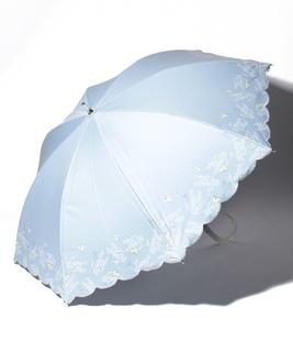 LANVIN en Blue(ランバン オン ブルー)晴雨兼用日傘 シャンブレー