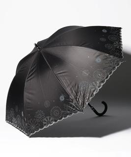 LANVIN en Blue(ランバン オン ブルー)晴雨兼用日傘 グリッター花×スカラ刺繍