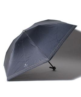 LANVIN en Blue(ランバン オン ブルー)晴雨兼用折りたたみ日傘 シルバーラメ刺繍