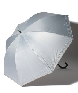 LANVIN en Blue(ランバン オン ブルー)晴雨兼用日傘 シルバーラメ刺繍