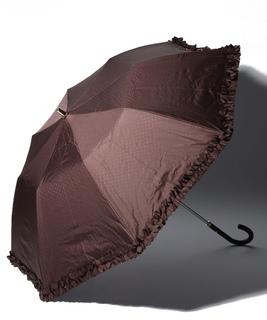 LANVIN en Blue(ランバン オン ブルー)晴雨兼用折りたたみ日傘 ドビーフリル