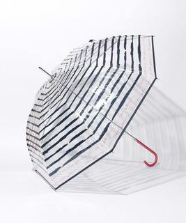 婦人ビニールボーダー柄長傘