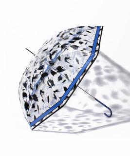 婦人ビニール筆タッチ柄長傘