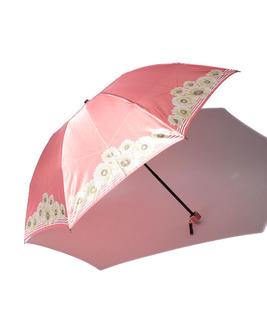 婦人ボーダー×花柄ミニ傘