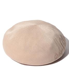 ジャガードロゴベレー帽