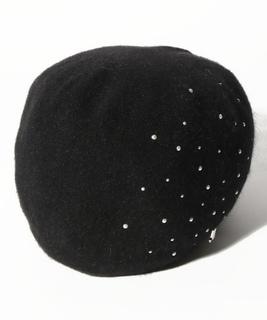 アンゴラパール付ワッチ ニット帽