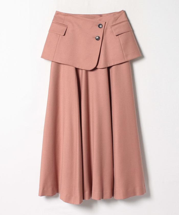 レイヤード2WAYフレアスカート