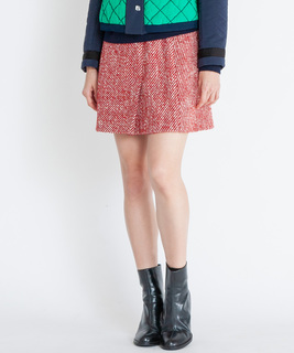 アルパカ混ツィードスカート
