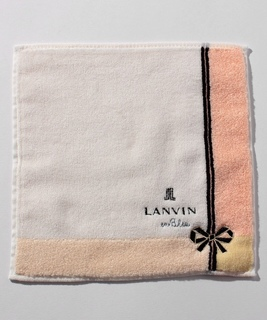 リボン刺繍タオルハンカチ