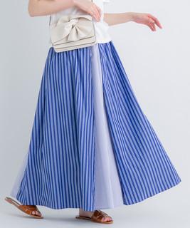 パターンストライプスカート
