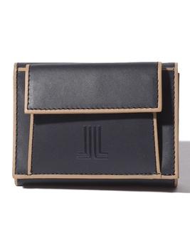 バイカラー三つ折財布