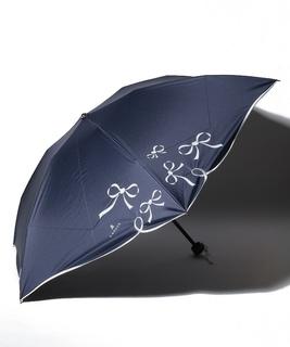 リボン柄折り畳み傘