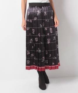 130周年プリントプリーツスカート