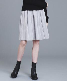 ツィードニットスカート