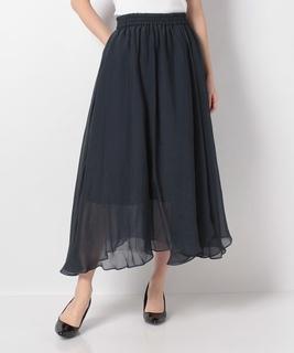 オーガンジーシフォンギャザースカート