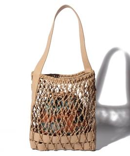 メッシュ編みトートバッグ
