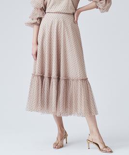 【セットアップ対応商品】フロッキードットチュールスカート