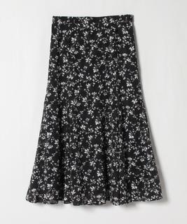 【セットアップ対応商品】カットジャガードフラワープリント スカート