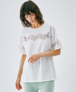 エンブロイダリーレースTシャツ