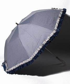配色フリル折り畳み傘