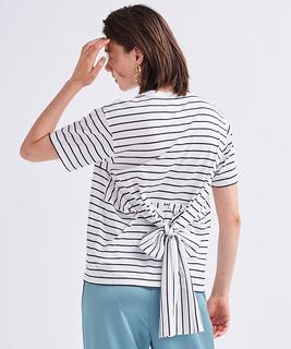 バックウエストリボンTシャツ