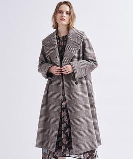 ビックカラーウールコート