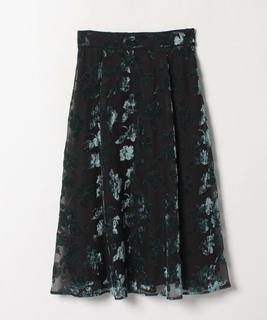 フラワーオパールプリントスカート