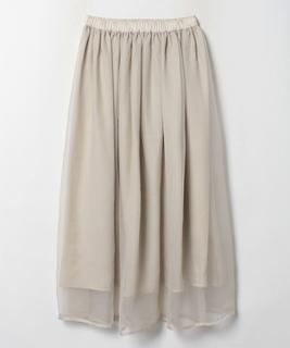 シフォン×オーガンジー 2wayスカート