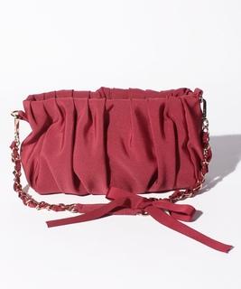 グログランギャザーハンドバッグ