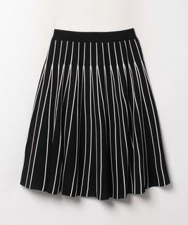 バイカラープリーツニットスカート