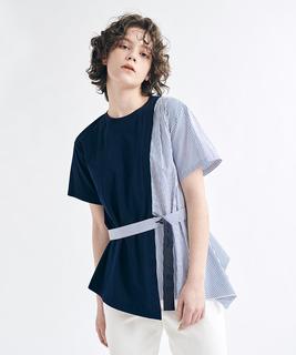 サイドコンビデザインTシャツ