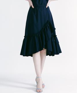 【TV着用】フリルグログランスカート