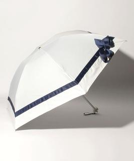 グログランリボン晴雨兼用折りたたみパラソル  22-084-1114-02