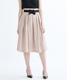 グロランリボン付フレアスカート