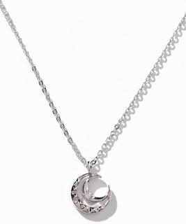 セサンパ 月モチーフダイヤモンドネックレス
