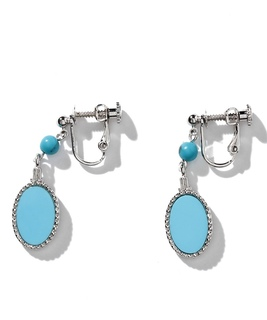 Blue turquoise ターコイズカラーイヤリング