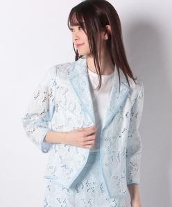 【セットアップ対応商品】エンブロイダリーレーステーラードジャケット