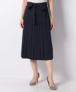 【セットアップ対応】ポリ強撚ツイル プリーツスカート