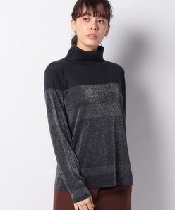 【アンサンブル対応】16Gラメ天竺 カシミヤタートルネックセーター