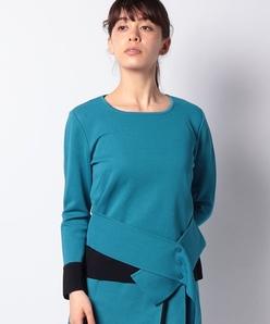 【セットアップ対応】16Gミラノリブ 配色使いセーター