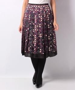 【セットアップ対応】幾何柄パネルプリント スカート