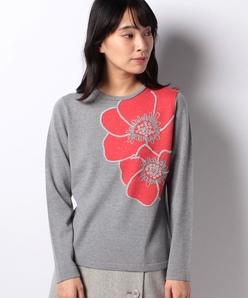 14G 天竺インターシャ×刺繍・ホットフィットセーター