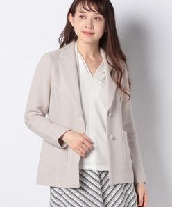 インレイ編み テーラードジャケット