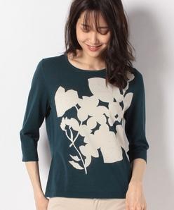 16G 花柄インターシャセーター