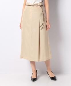 【セットアップ対応】ベルト付きロングスカート
