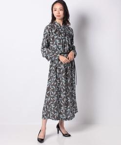インポート素材 サハラ柄プリントドレス