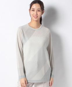 【アンサンブル対応】カシミヤ混 フェアリーテール配色セーター