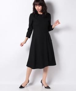 【セットアップ対応】ウールピーチジョーゼットドレス